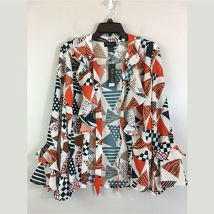 Gracia long sleeve printed blouse